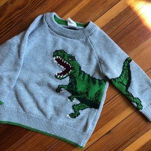 Intarsia Dino crew sweater